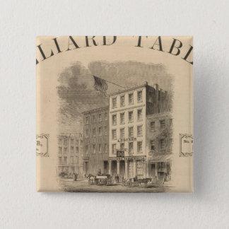 Vignette of retail establishment Advertisement 15 Cm Square Badge