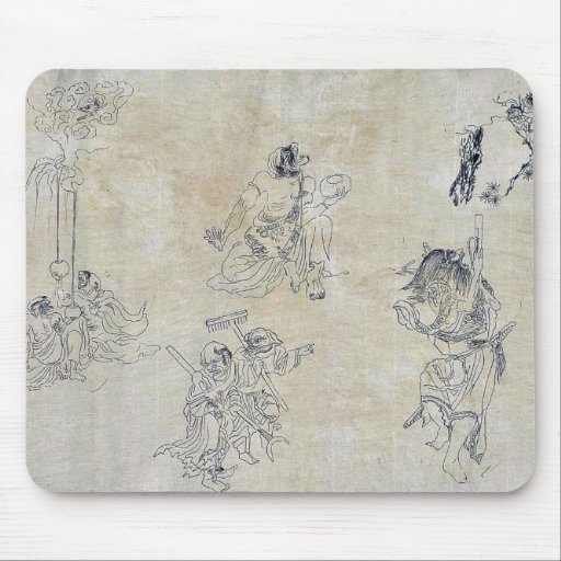 Vignettes of supernatural beings mousepad