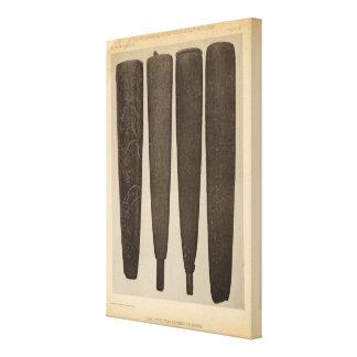 VII Stone pipes, So Calif Canvas Print