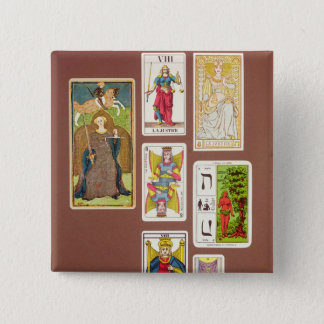 VIII Justice, seven tarot cards 15 Cm Square Badge