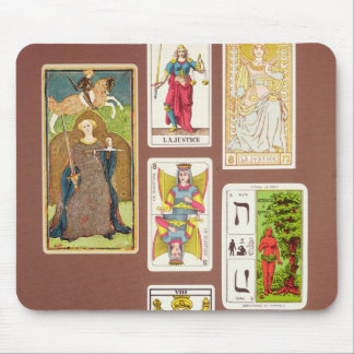 VIII Justice, seven tarot cards Mouse Mat