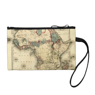 Viintage 1874 Map of Africa  Antique African Print Coin Purse