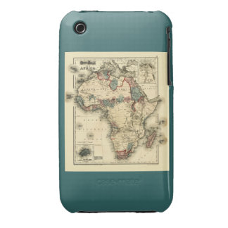Viintage 1874 Map of Africa  Antique African Print iPhone 3 Case-Mate Case