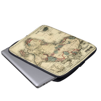 Viintage 1874 Map of Africa  Antique African Print Laptop Sleeve