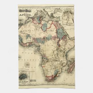Viintage 1874 Map of Africa  Antique African Print Tea Towel