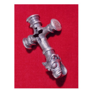 Viking amulet in the shape of a cross post card