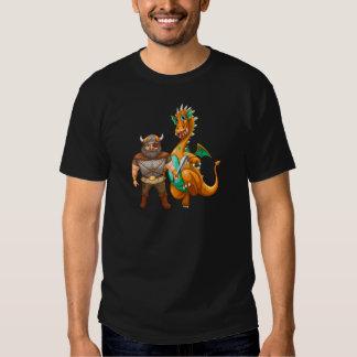 Viking and dragon t shirt