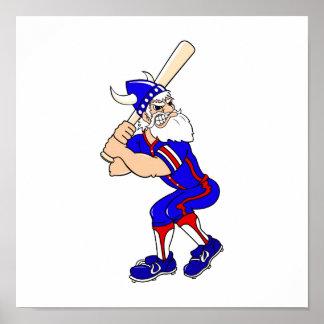 Viking Baseball Player Poster
