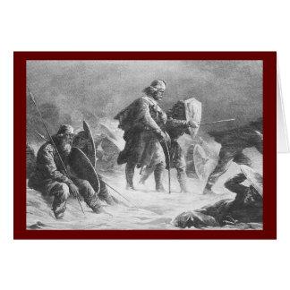 Viking Battle by Knud Bergslien Cards