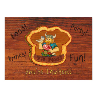 "Viking Birthday Invitation 5"" X 7"" Invitation Card"