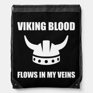 Viking Blood Drawstring Bag