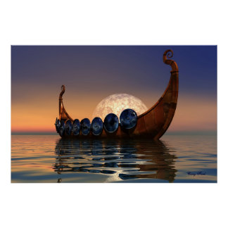 VIKING BOAT 2 CANVAS POSTER