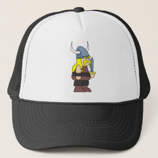 Viking cartoon trucker hat