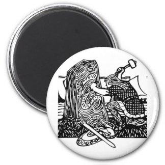 Viking Carving Runes Magnet