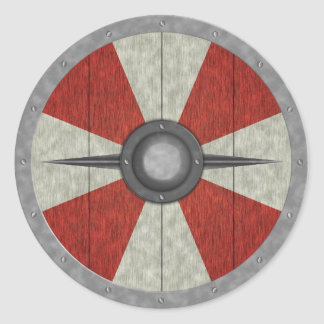 Viking Circle Shield Round Sticker