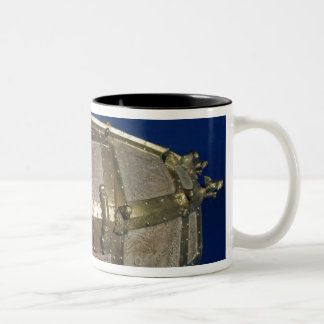 Viking coffer for gold Two-Tone coffee mug