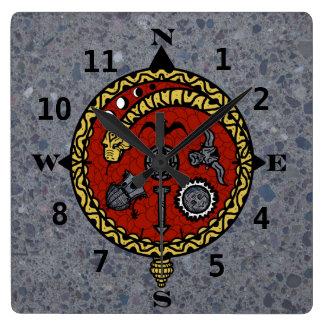VIKING COMPASS  CLOCK by Slipperywindow