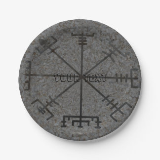 Viking Compass Paper Plate