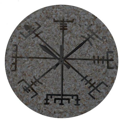 viking compass wall clock zazzle