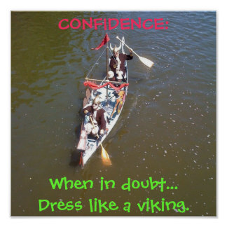 Viking Confidence Poster