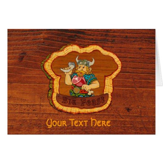 Viking Customisable Text Greeting Card