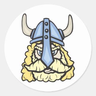 Viking!  Customizable! Classic Round Sticker