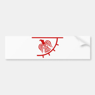 Viking Eagle Banner Bumper Sticker