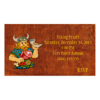 Viking Feast RSVP Card Pack Of Standard Business Cards