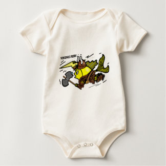 Viking Fish funny cute sparky comics medieval Baby Bodysuit