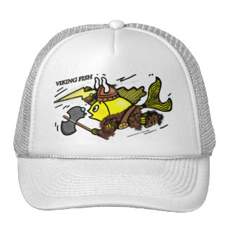 Viking Fish funny cute sparky comics medieval Cap