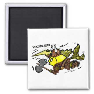 Viking Fish funny cute sparky comics medieval Magnet
