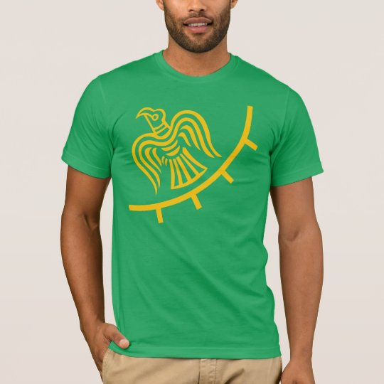Viking Flag On Green Shirt