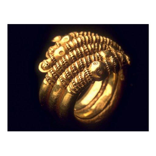 Viking gold ring postcards