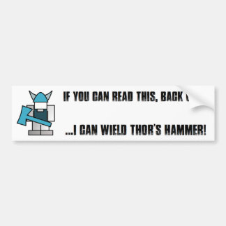 Viking Hammer Bumper Sticker