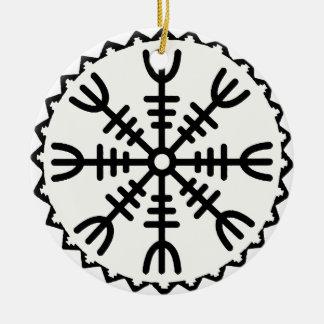 Viking Helm of Awe Christmas Ornament