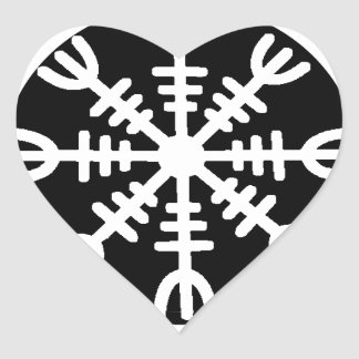 Viking Helm of Awe Heart Sticker