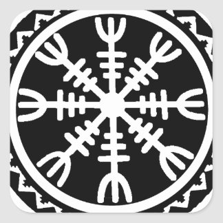 Viking Helm of Awe Square Sticker