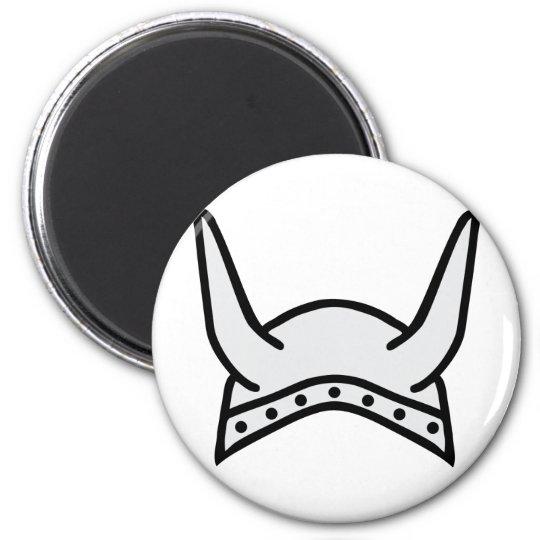 viking helmet icon magnet