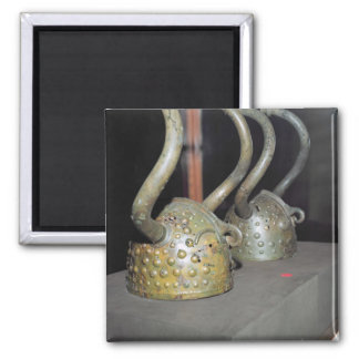 Viking helmet square magnet