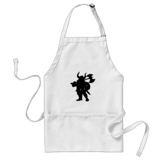 Viking in Silhouette, with axe over shoulder Standard Apron