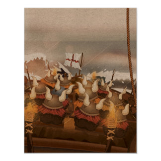 Viking Invasion Fleet 11 Cm X 14 Cm Invitation Card
