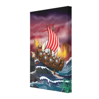 Viking Invasion Fleet Canvas Prints