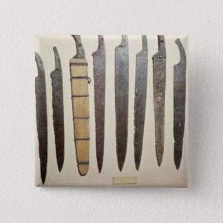 Viking iron blades for swords 15 cm square badge
