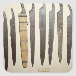 Viking iron blades for swords square sticker