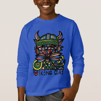 """Viking Kat"" Boys' Long Sleeve T-Shirt"
