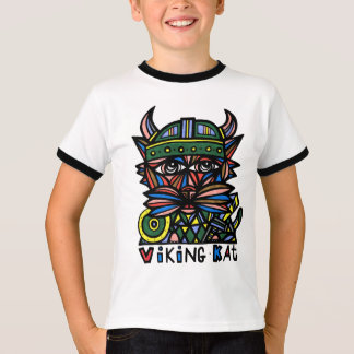 """Viking Kat"" Boys Ringer Shirt"