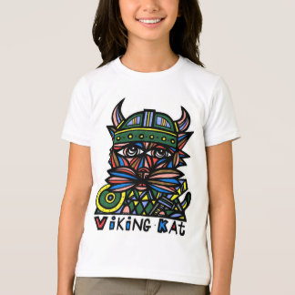 """Viking Kat"" Girls' American Apparel T-Shirt"