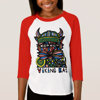"""Viking Kat"" Girls' Raglan T-Shirt"