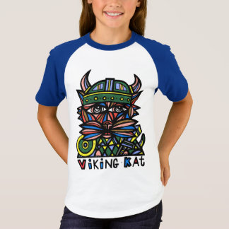 """Viking Kat"" Girls' Short Sleeve Raglan T-Shirt"