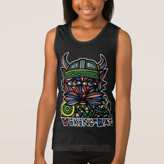 """Viking Kat"" Girls' Tank Top"